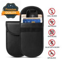 Car Key Signal Blocker Pouch, Pack of 2 RFID Blocking Faraday Bag Pouches...