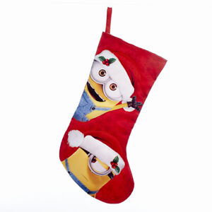 """Despicable Me Minions 19"""" Red Christmas Stocking by Kurt Adler"""