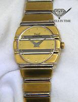 Piaget Polo 18k Yellow & White Gold Ladies 23mm Quartz Watch 861 C701