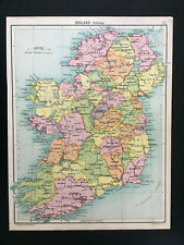 Antique Map Of Ireland C1910