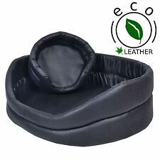 Faux Leather Portable Dog Beds