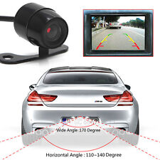 170º Mini Color CCD Reverse Backup Car Front Rear View Camera Night Vision 12V