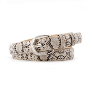 Pu Leather Snake Waist Belt For Women's Dress Waistbands Fashion Adjustable Belt