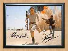 Rey Daisy Ridley Finn John Boyega Star Wars Signed Autographed A4 Photo Print