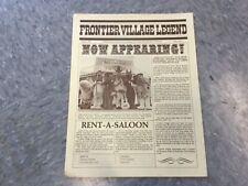 Frontier Village Amusement Park San Jose Legend news letter Spring 1979
