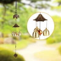 Vintage Elephant Metal Wind Chimes Antirust Bells Hanging Style Decor Window