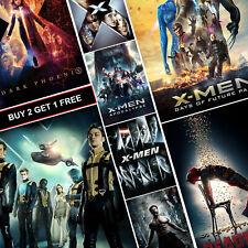 X-Men Movie Posters A4 HD Prints Gloss Art Deadpool Dark Phoenix Wolverine XMen