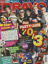 Bravo 01/27.12. 2012 Cover One Direction + Star Calendar Complete