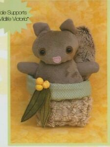 PATTERN - Smudge, Possum in a Pouch - cute softie PATTERN - Two Brown Birds