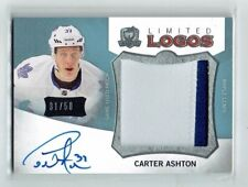 12-13 UD The Cup Limited Logos  Carter Ashton  /50  Auto  Patch