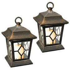 NEW 2 PC Flickering Table Hanging LED Solar Candle Festive Lantern Lights