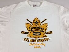 Canadian Olympic Hockey Shirt Gold Medal 2002 Mens Small Champions Womens Canada