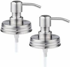 Comfort Axis Stainless Steel Mason Jar Liquid Soap Dispenser Lids – 2 Pack