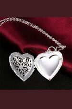 Silver Heart Photo Locket Necklace MOTHER'S DAY