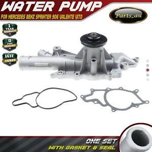 Water Pump w/ Gasket for Mercedes Benz Sprinter 906 Valente Vito W639 2003-2018
