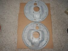 Pair 61-5 Corvair FC, Van, Greenbrier Front Backing Plates Galvanized