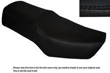 Negro Stitch Custom encaja Suzuki Gn 250 87-96 Cuero Doble cubierta de asiento solamente