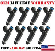 8PCS OEM DENSO Fuel Injectors *02-04* Chevrolet Silverado 1500 5.3L Flex Fuel