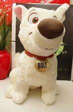 """Disney Store Bolt Large 22"""" Dog Plush WhiteSitting Extra Cute"""