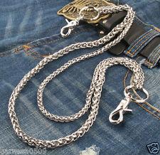 """Double Roof Durable Basic Biker Trucker Key Jean Wallet Chain NCS68 (24"""") Silver"""