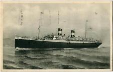 1928 Genova Navigazione Generale Italiana NAVE Augustus Tubercolosi FP B/N VG