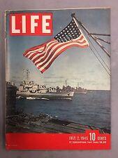 LIFE MAGAZINE JULY 2, 1945 WWII HITLER EISENHOWER BATTLESHIPS AMERICAN FLAG
