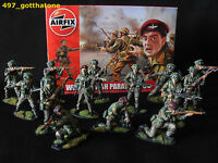 1/32 AIRFIX BRITISH PARATROOPS WW2. LAST SET!!! PRO PAINTED X 14 BOXED NEW.
