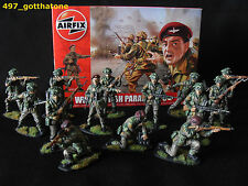 1/32 AIRFIX BRITISH PARATROOPS WW2. PROFESSIONALLY PAINTED X 14 BOXED NEW. 54mm.