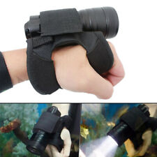 Scuba Diving LED Flashlight Holder Glove Light Lamp Torch Hand Wrist Strap Mount