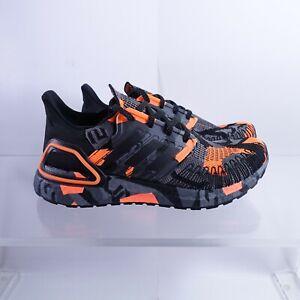 Size 10 Men's adidas Ultraboost 20 Running Shoes FV8330 Black/Signal Orange