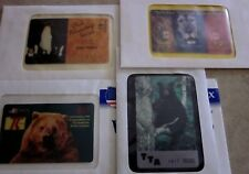 Group of four Wildlife Phone cards in  envelopes, Bears, Lions , penguins, RARE