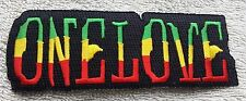 RASTA ONE LOVE PATCH Cloth Badge/Emblem/Insignia Biker Jacket Rastafarian Flag