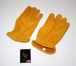 Majestic Premium Hirschleder Handschuhe Western Biker Arbeit Cowboy S,M,L,XL