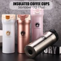 Stainless Steel Insulated Cup Tumbler Vacuum Flask Coffee Mugs Travel Bottle Mug