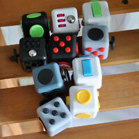 Fun Fidget 6 Sided Cube Adult Anxiety Stress Relief Cube Toys Xmas Gift Cubes