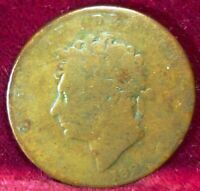 1826 Great Britain 1/2 Penny KM# 692