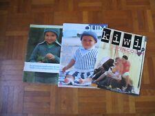 LOT de 3 catalogues tricot PINGOUIN - Layette/Enfants 6 à 14 ans -Années 70 à 90