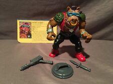 Teenage Mutant Ninja Turtles Tmnt 1988 Bebop (Hard Head) 100% Complete w/ Card