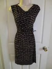 DONNA MORGAN* BLACK & COPPER FAUX WRAP STRETCH DRESS 8 *NWT* $149