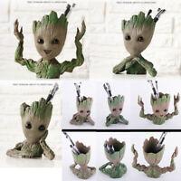 Guardians of The Galaxy 2 Baby Groot Figure Flowerpot Pen Pot Decor Toy Gift Set