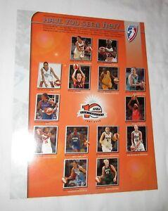 2006 WNBA game roster photo Phoenix Mercury San Antonio Silver Stars Margo Dydek