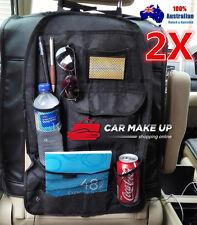 2 x pcs Car Back Seat Tidy Organizer Holder Travel Kid Storage Bag Multi-Pocket
