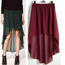 b4e216d04a Long Solid Asymmetrical Skirts for Women for sale   eBay