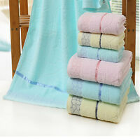 3-Piece  100% Cotton Towels Low Twist Yarn Bath Hand Face Towel Set Gift box