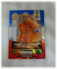 2014 Panini Prizm Blue Red Wave World Cup Stars - Arjen Robben - Netherlands #20
