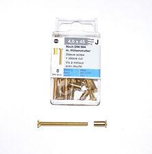 Metall Holz Blech Kunststoff Schrauben je 20x Stück .. 80 Bohrung M1
