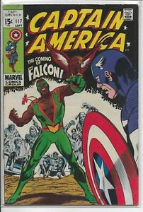 CAPTAIN AMERICA #117 (1969) 1ST APPEARANCE OF FALCON & REDWING KEY ORIGIN ISSUE