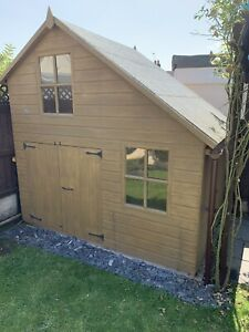 6x8 Wooden Playhouse 2 Storey High Quality