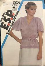 Vtg Simplicity E.S.P. pattern 5508 Misses' Pullover Blouse size 16, 18, 20 uncut