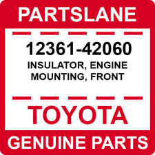 12361-42060 Toyota OEM Genuine INSULATOR, ENGINE MOUNTING, FRONT